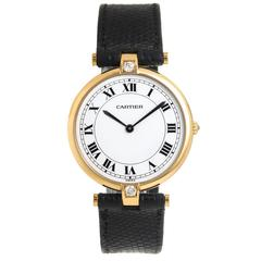 Cartier Vendome Large Gold Quartz Wristwatch