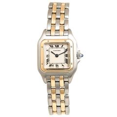 Cartier Panther Yellow Gold and Steel Ladies Quartz Watch