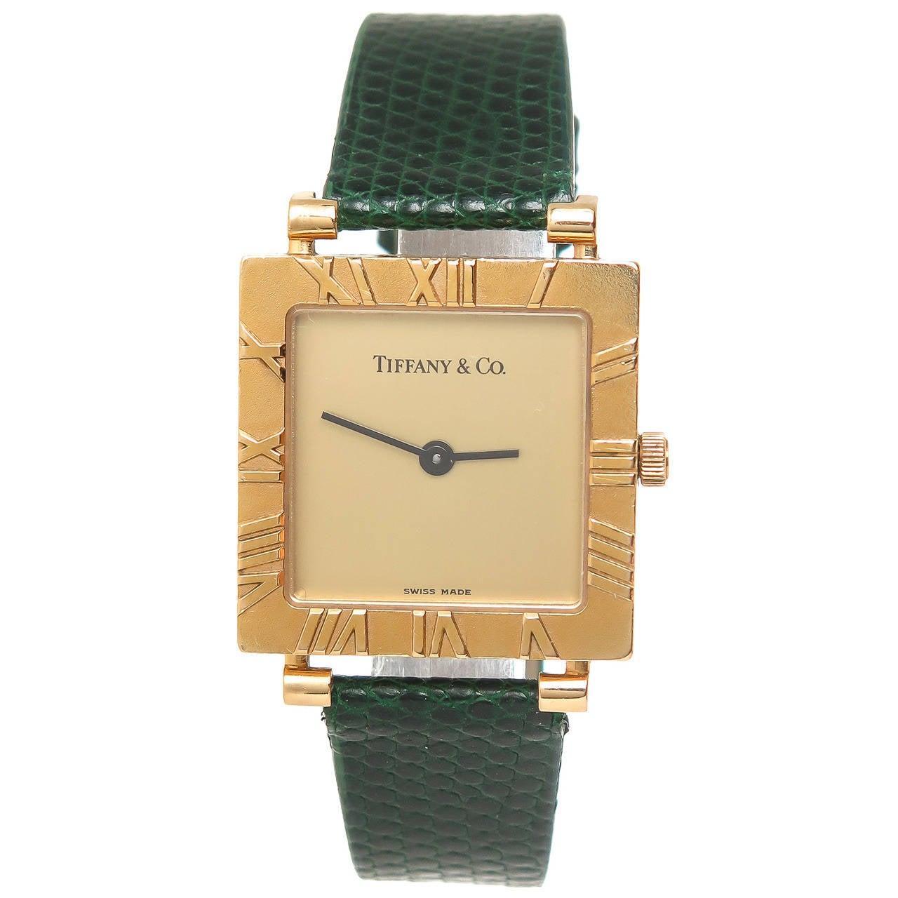 Золотые часы тиффани