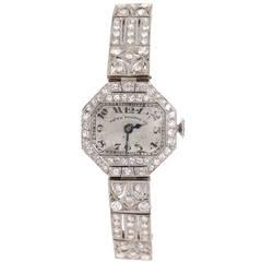 Patek Philippe Lady's Platinum and Diamond Wristwatch