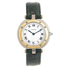Cartier Ladies Yellow Gold Stainless Steel Santos Ronde Quartz Wristwatch
