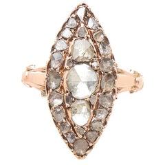 Georgian Gold and Rose Cut Diamond Ring
