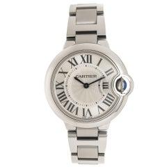 Cartier Stainless Steel Ballon Bleu Mid-Size Quartz Wristwatch