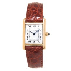 Cartier Ladies Yellow Gold Classic Tank Manual Wind Wristwatch