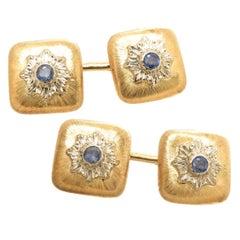Buccellati Sapphire Gold Cufflinks