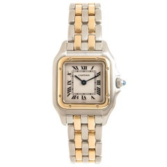 Cartier Ladies Yellow Gold Stainless Steel Panthere Quartz Wristwatch