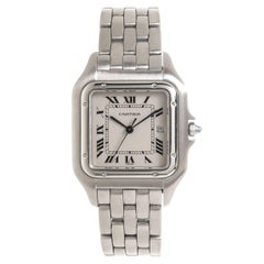 Cartier Stainless Steel Panthere Large Quartz Wristwatch