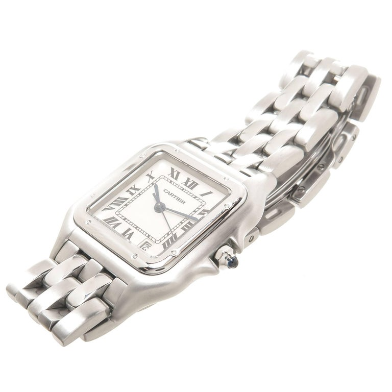 Cartier Stainless Steel Panthere Mid-Size Quartz Wristwatch 2