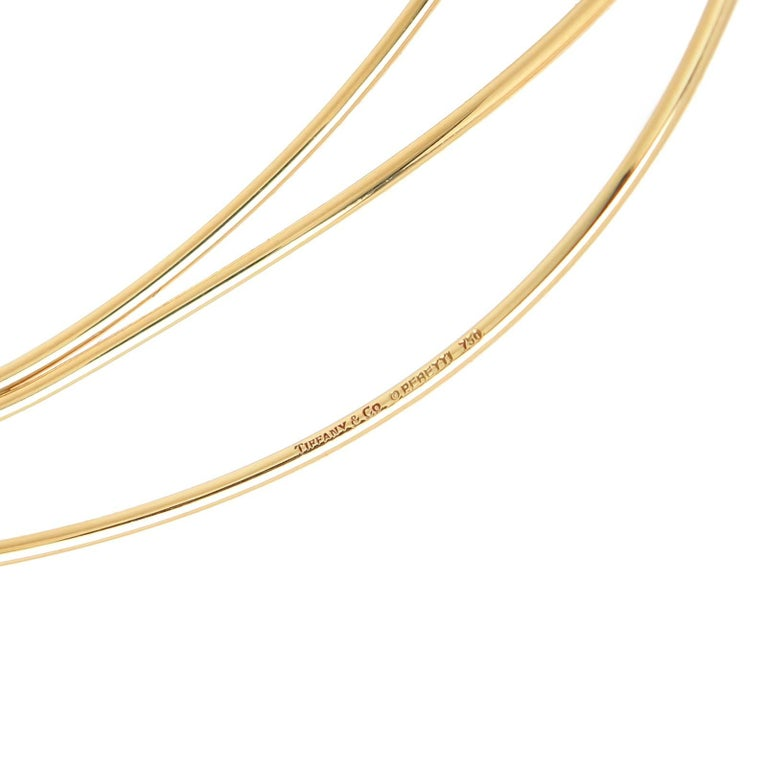 Circa 2016 Elsa Peretti for Tiffany & Company 18K yellow Gold 3 Row