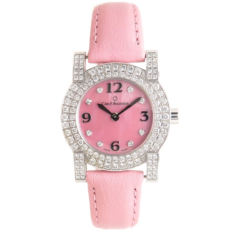Carl Bucherer Ladies White Gold Diamond Pathos Quartz Wristwatch