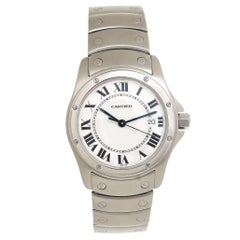 Cartier Stainless Steel Santos Ronde Mid Size Quartz Wristwatch