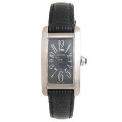 Cartier Ladies White Gold Tank American Quartz Wristwatch