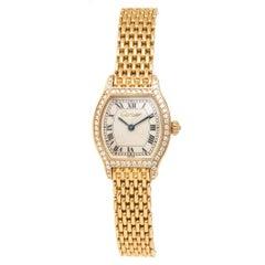 Cartier Ladies yellow Gold Diamond Tortue Quartz Wristwatch