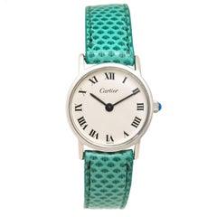 Cartier Ladies Sterling Silver Manual Wind Wristwatch