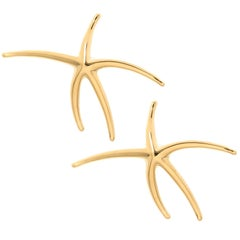 Tiffany & Co. Elsa Peretti Yellow Gold Star Fish Earrings