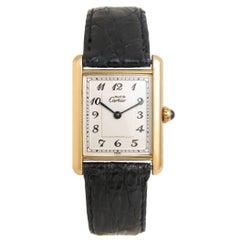 Cartier Vermeil Must de Cartier Classic Tank Quartz Wristwatch