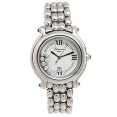 Chopard Ladies Stainless Steel Happy Sport Happy Diamond Quartz Wristwatch