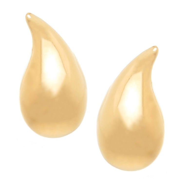 Tiffany & Co. Elsa Peretti Large Yellow Gold Classic Tear Drop Earrings