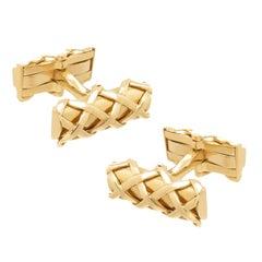 Tiffany & Co. Yellow Gold Signature Cufflinks