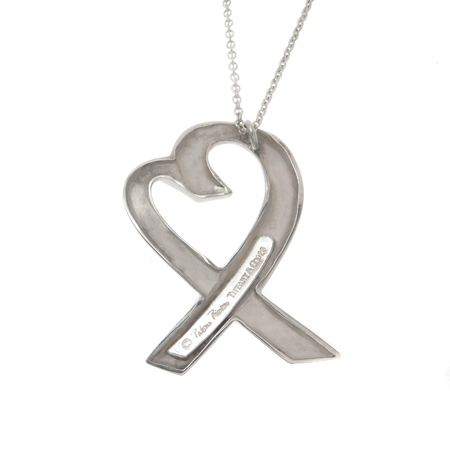 Paloma picasso tiffany and co large silver loving heart necklace paloma picasso tiffany and co large silver loving heart necklace for sale at 1stdibs aloadofball Images