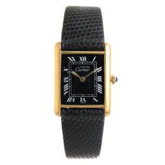 Cartier Vermeil Must de Cartier Classic Tank Quartz Wristwatch, circa 1990s