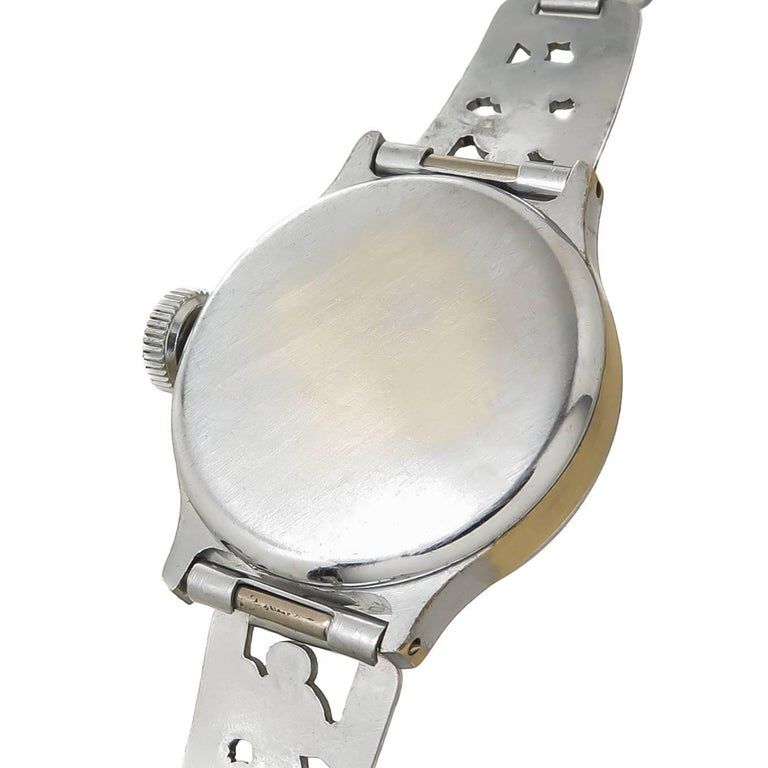 Ingersoll Stainless Steel Mickey Mouse Wristwatch with Important Provenance 1933 3