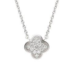 Van Cleef & Arpels Alhambra White Gold and Diamond Pendant