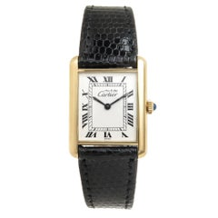 Cartier Must De Cartier Vermeil Classic Tank Mechanical Wristwatch