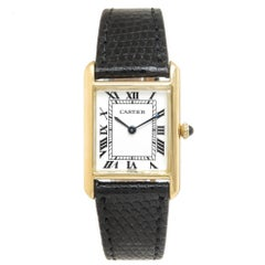 Cartier Yellow Gold Classic Tank Mechanical Wristwatch