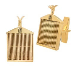 Rolls Royce Yellow Gold Cufflinks
