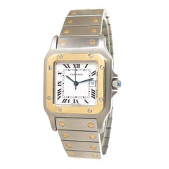 Cartier Santos Yellow Gold Stainless Steel Automatic Wristwatch