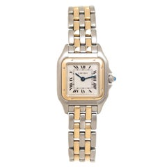 Cartier Ladies Yellow Gold Stainless Steel Panther Quartz Wristwatch