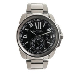 Cartier Stainless Steel Calibre De Cartier Automatic Wristwatch
