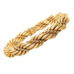 Tiffany & Co. Yellow Gold Large Twisted Rope Bracelet