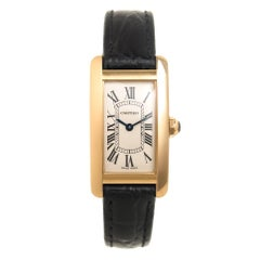 Cartier Ladies Yellow Gold Tank American Quartz Wristwatch