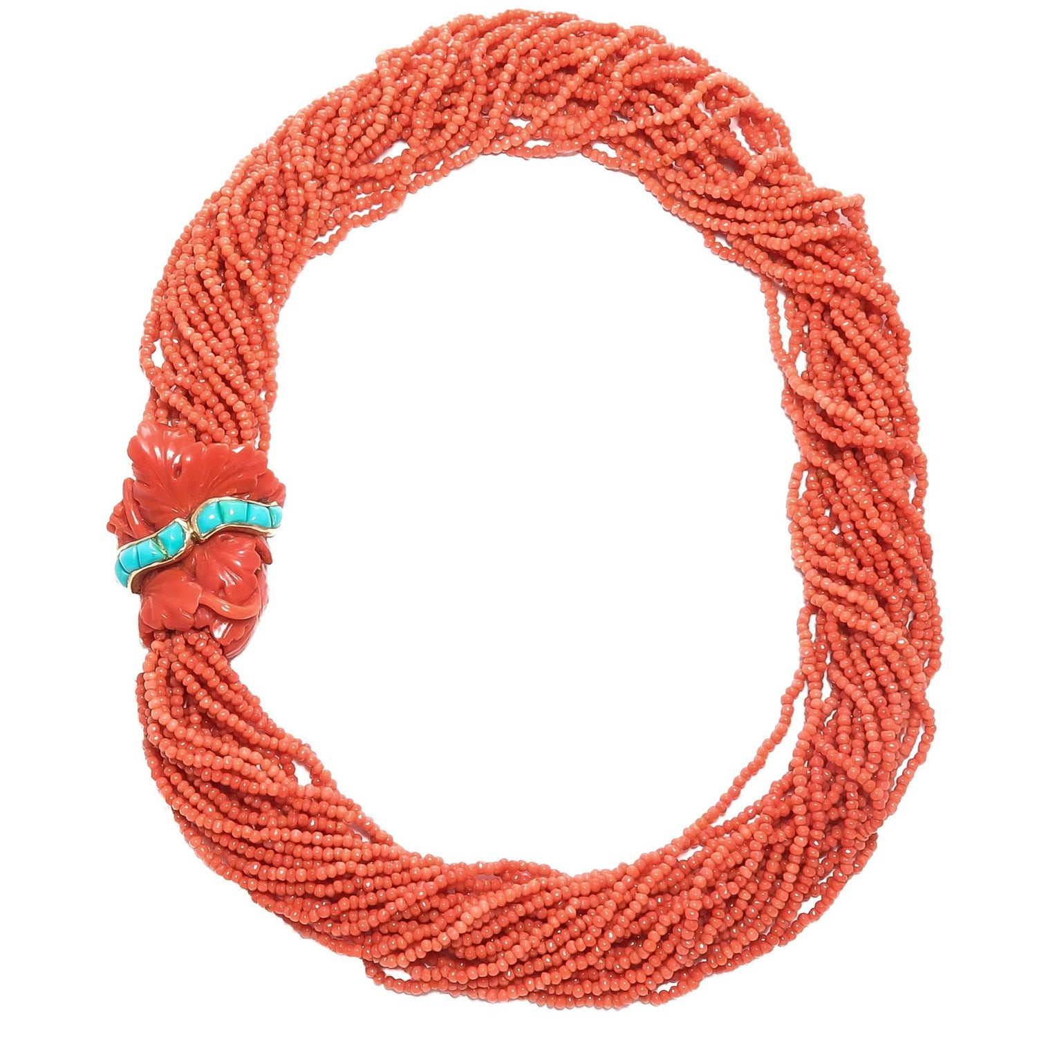 Antique Coral Beaded Necklaces - 144 For Sale at 1stdibs