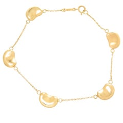 Tiffany & Co. Elsa Peretti Yellow Gold Bean Bracelet