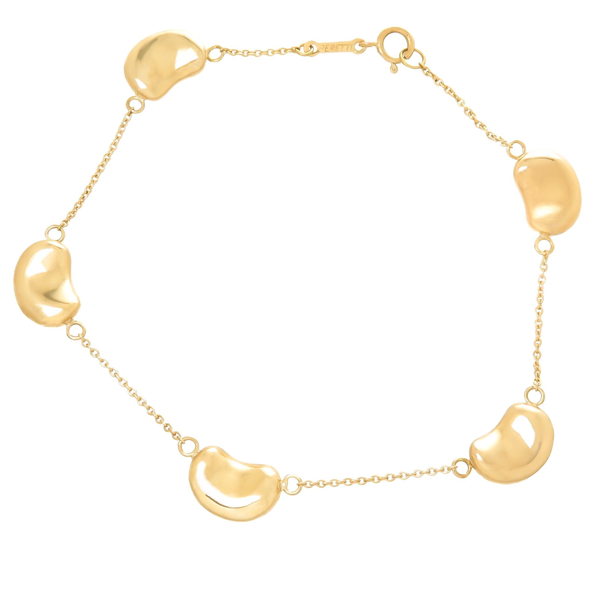 4bad33e0a49db Tiffany & Co. Elsa Peretti Yellow Gold Bean Bracelet