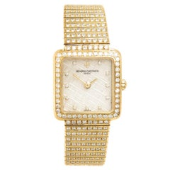 Vacheron Constantin Ladies Yellow Gold Diamond High Jewelry Manual Wristwatch