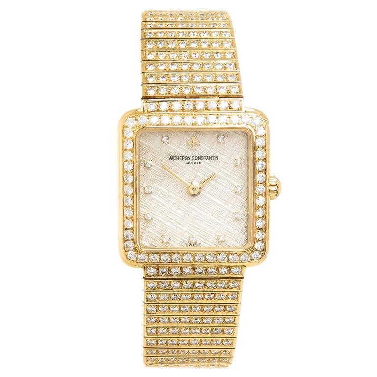 Vacheron Constantin Ladies Yellow Gold Diamond High Jewelry Manual Wristwatch