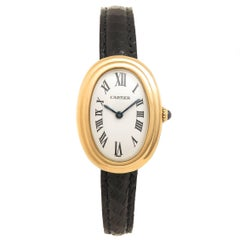 Cartier Ladies Yellow Gold Baignoire Manual Wind Wristwatch, circa 1980