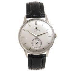 Rolex Stainless Steel Precision Manual Wind Wristwatch, circa 1950