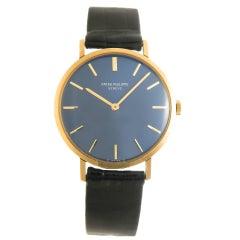 Patek Philippe Yellow Gold Manual Wristwatch Ref 3537, Circa 1980s