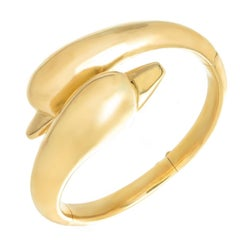 Lalaounis 22K Gold Dolphin Bangle Bracelet