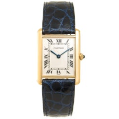 Cartier Yellow Gold Classic Tank Quartz Wristwatch