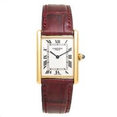 Cartier Yellow Gold Classic Tank Mechanical wristwatch, Circa 2000