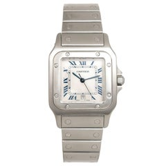 Cartier Stainless Steel Santos Large Quartz Wristwatch, Circa 2000