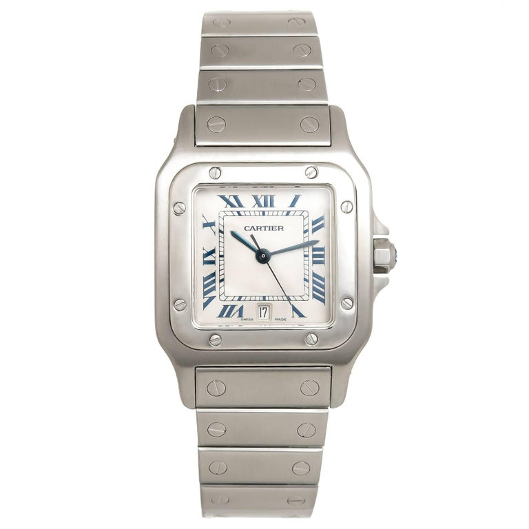 Cartier Stainless Steel Santos Large Quartz Wristwatch, Circa 2000