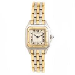Cartier Ladies Yellow Gold Stainless Steel Panther Quartz Wristwatch, circa1990s