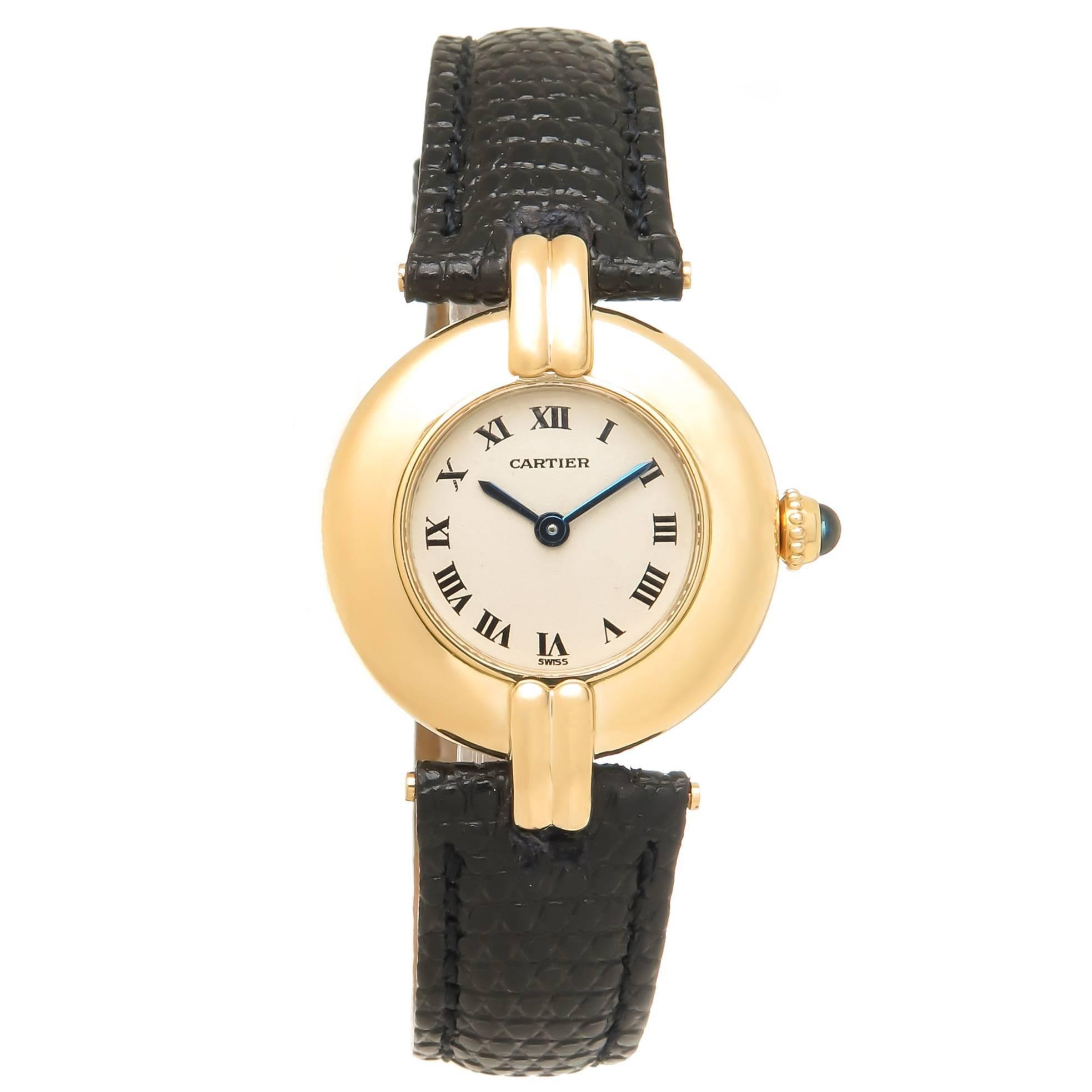 Cartier Ladies Yellow Gold Colisee Quartz Wristwatch, Circa 2000